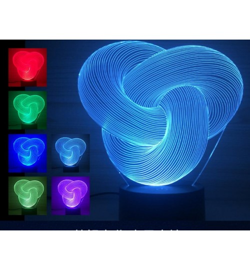 3D Desk Lamp Night LED Light