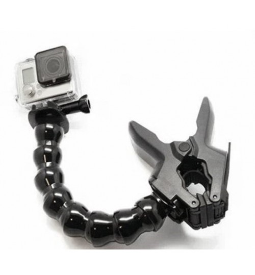 Jaw Flex Clamp Mount Clamp Clip compatible with Gopro HERO4 HERO3+ HERO3