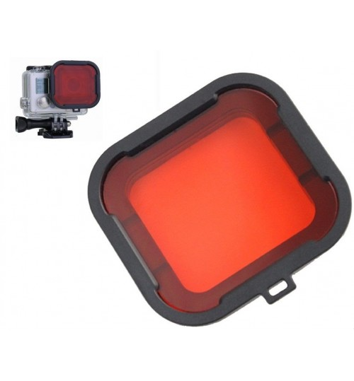 Red Filter for Standard Housing compatible with GoPro HERO 4/3+