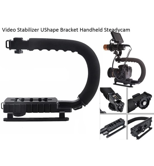 Video DV Stabilizer UShape Bracket Handheld Video Handheld Grip For DSLR