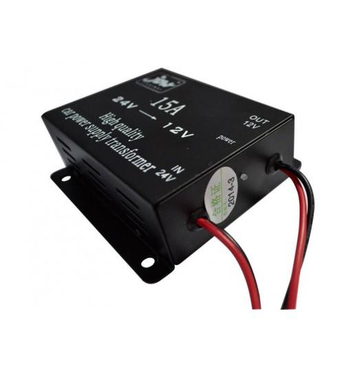 15A High quality car power supply transformer 24v to 12v