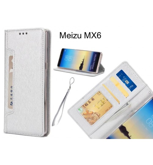 Meizu MX6 case Silk Texture Leather Wallet case 4 cards 1 ID magnet