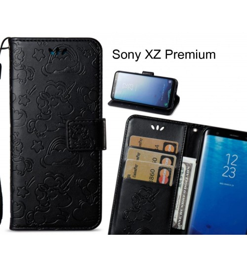 Sony XZ Premium Case Wallet Leather Unicon Case