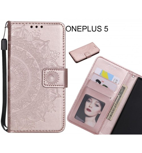 ONEPLUS 5 Case mandala embossed leather wallet case