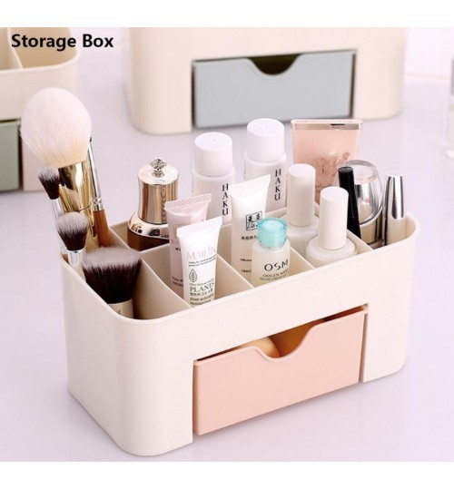 Cosmetic Jewelry Storage Drawer Plastic Home Office Desk Makeup
