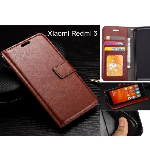 Xiaomi Redmi 6 case Fine leather wallet case