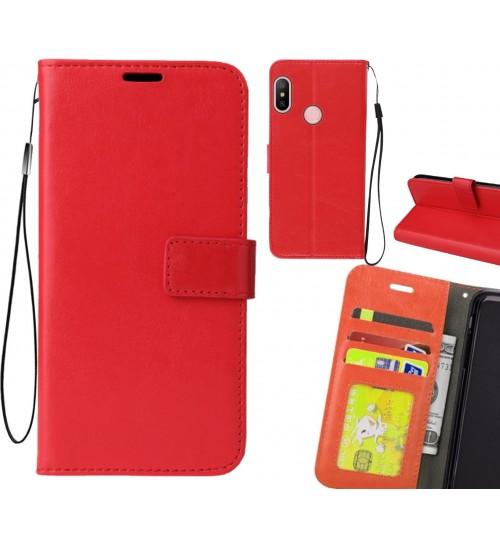 Xiaomi Redmi 6 Pro case Fine leather wallet case
