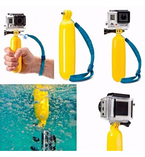 GoPro compatible Floating Bobber Hand Grip Floaty Bobber with Strap for GoPro