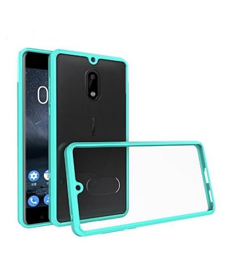 Nokia 6 case bumper  clear gel back cover