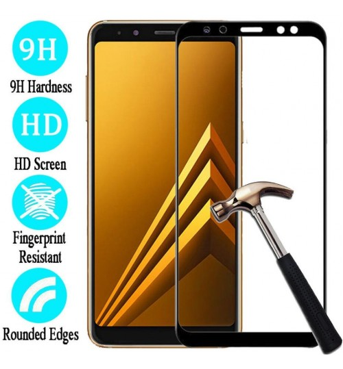 Galaxy J6 Plus Fully Covered 3D Tempered Glass Screen Protector