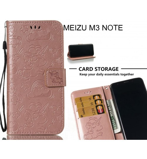 MEIZU M3 NOTE Case Leather Wallet case embossed unicon pattern