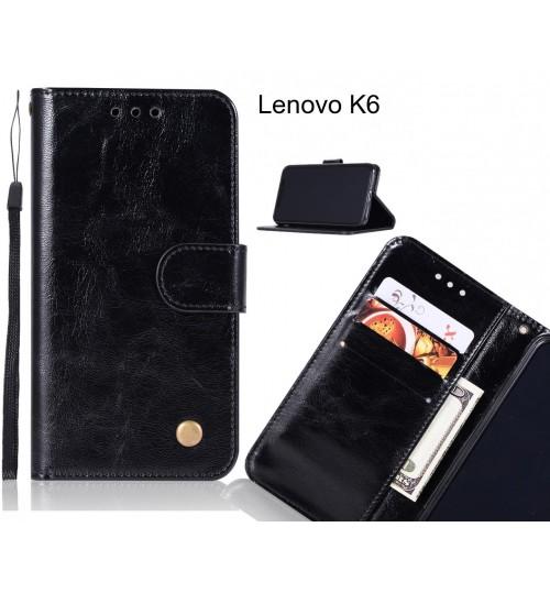 Lenovo K6 case executive leather wallet case