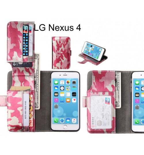 LG Nexus 4 Case Wallet Leather Flip Case 7 Card Slots