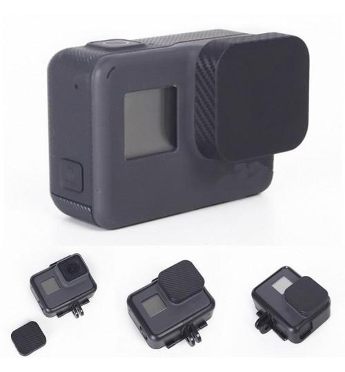 Lens Protector Cover Carbon Fiber Cap For Gopro Hero 5 Camera Accessories