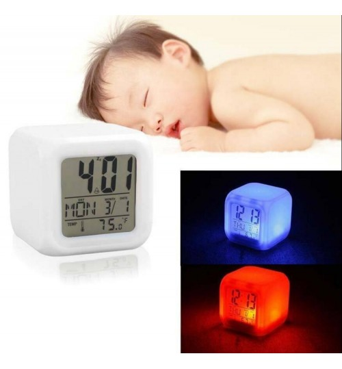 Digital LED Alarm Clock 7 Colours