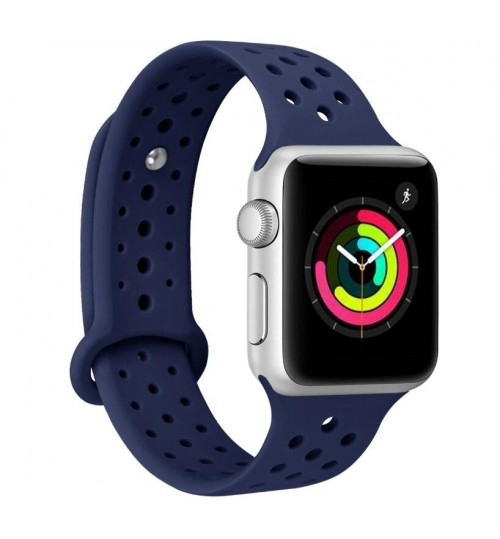 Apple Watch iWatch 3/2/1 42MM Replacement Silicone Sport Band Strap