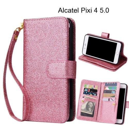 Alcatel Pixi 4 5.0 Case Glaring Multifunction Wallet Leather Case