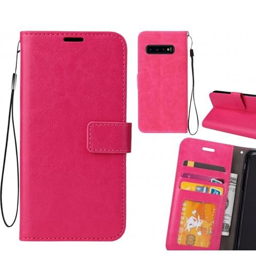 Galaxy S10 PLUS case Fine leather wallet case