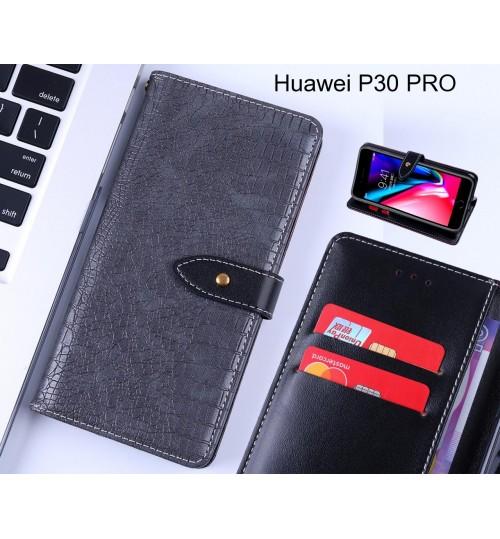 Huawei P30 PRO case croco pattern leather wallet case