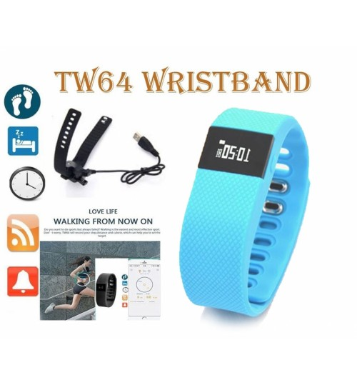 TW64 Bluetooth Bracelet Sport Watch Step Calorie Fitness Tracker Pedometer
