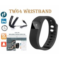 TW64 Bluetooth Smart Bracelet Watch Step Calorie Fitness Tracker Pedometer