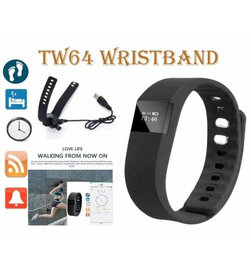 TW64 Bluetooth Smart Bracelet Watch Step Calorie Fitness Tracker Pedometer