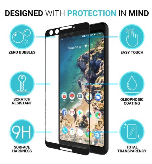 Google Pixel 3 Tempered Glass Full Screen Protector