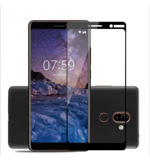 Nokia 3.1 Plus FULL Screen covered Tempered Glass Screen Protector