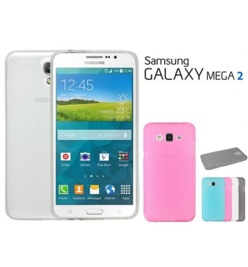 Samsung Galaxy Mega 2 case TPU Soft Gel Case+Pen