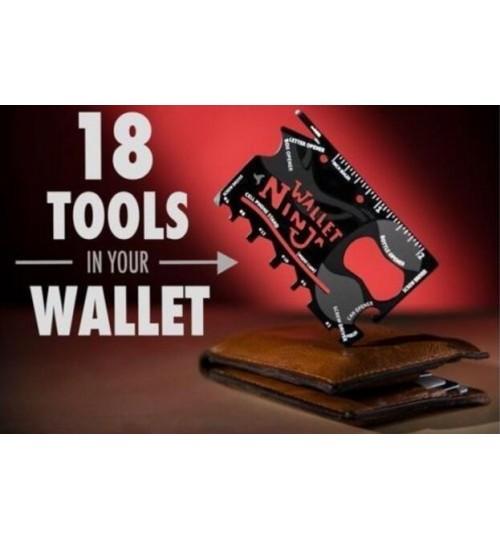 Wallet Ninja 18 Tools in 1 Credit Card Sized