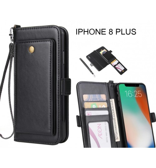 factory price 941b0 6a9c0 Buy IPHONE 8 PLUS Case Retro Leather Wallet Case online at Geek ...
