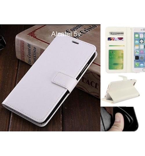 Alcatel 5v case Fine leather wallet case