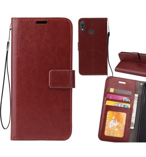 Huawei Y9 2019 case Fine leather wallet case