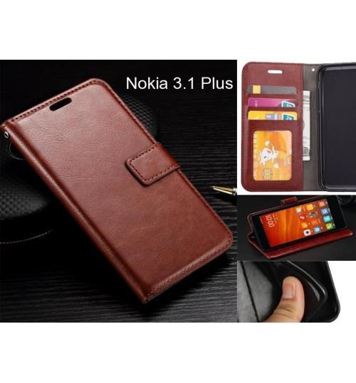 Nokia 3.1 Plus case Fine leather wallet case