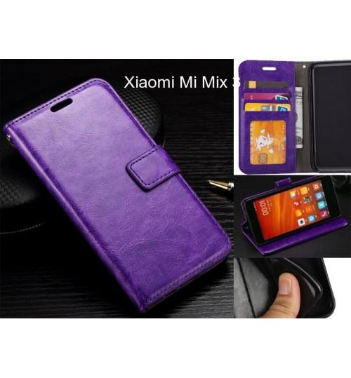 Xiaomi Mi Mix 3 case Fine leather wallet case