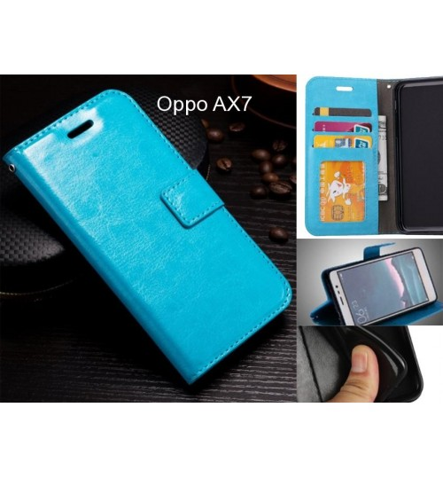 Oppo AX7 case Fine leather wallet case