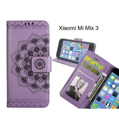 Xiaomi Mi Mix 3 Case mandala embossed leather wallet case