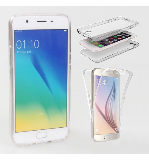 Oppo A39 case 2 piece transparent full body protector case