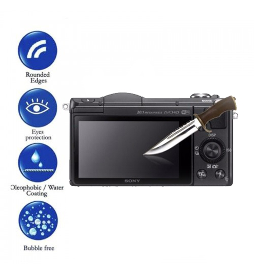 Sony LCD Screen Protector Tempered Glass For Alpha A6000 A6300 A6500