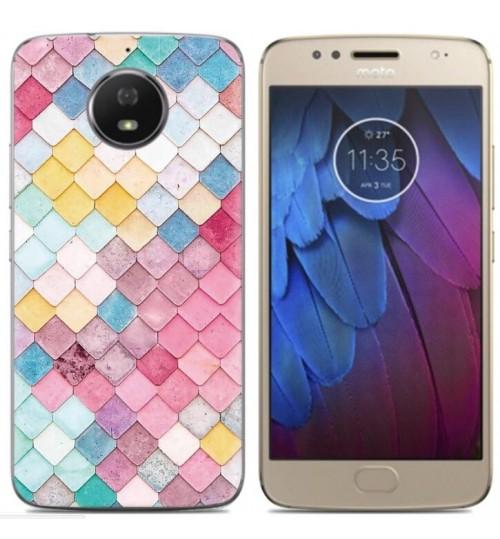 Moto G5S case Ultra Slim Soft Gel TPU printed case soft cover