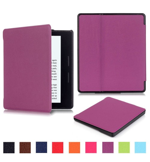 "Amazon Kindle Oasis E-reader 7"" 9th 2017 Slim Stand Case Leather Fine Cover"