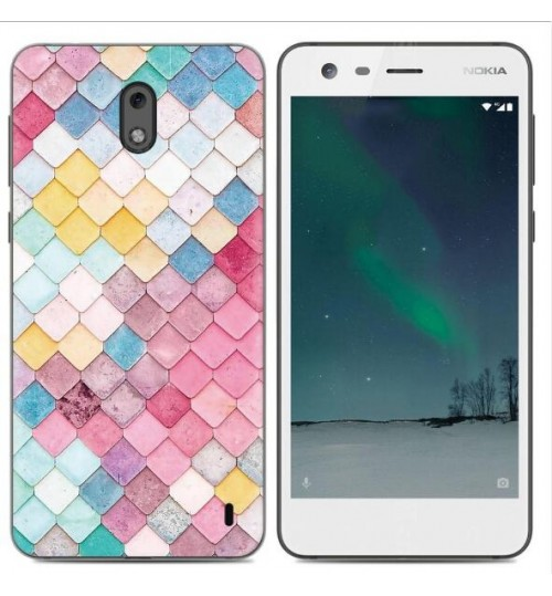 Nokia 2 case Ultra Slim Soft Gel TPU printed case soft cover