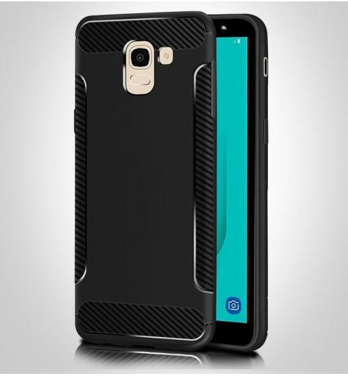 Galaxy J4 2018 case slim grip shockproof carbon fiber