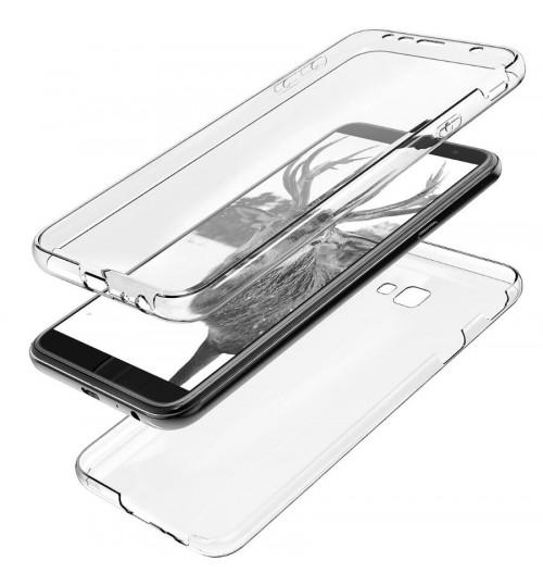 Galaxy J4 Plus case 2 piece transparent full body protector case