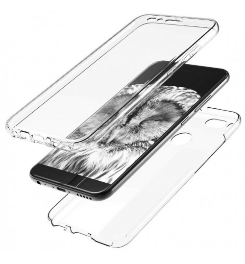 Xiaomi MI A1 case 2 piece transparent full body protector case
