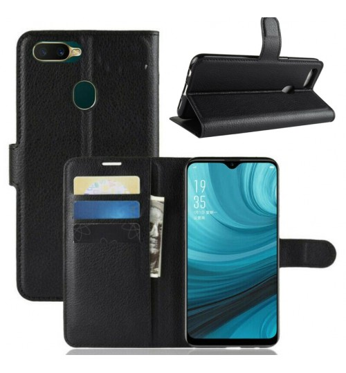 Oppo AX7 wallet leather case