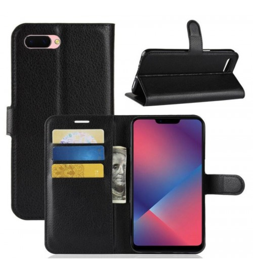 Oppo AX5 wallet leather case