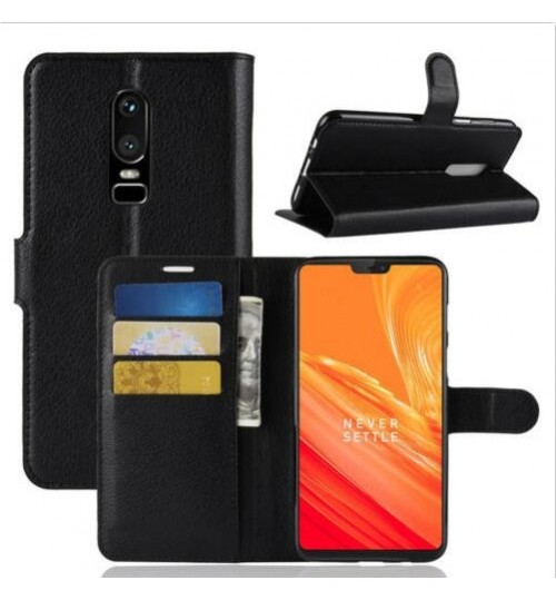 OnePlus 6T wallet leather case