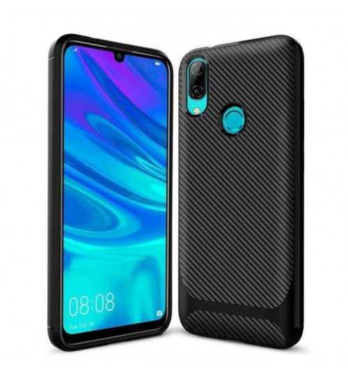 Huawei P smart 2019 case impact proof rugged case with carbon fiber