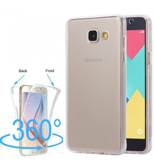 Galaxy A8 plus 2018 case 2 piece transparent full body protector case